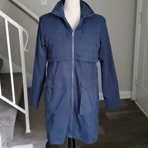 Mondetta Peached Finish Windbreaker Trench Jacket